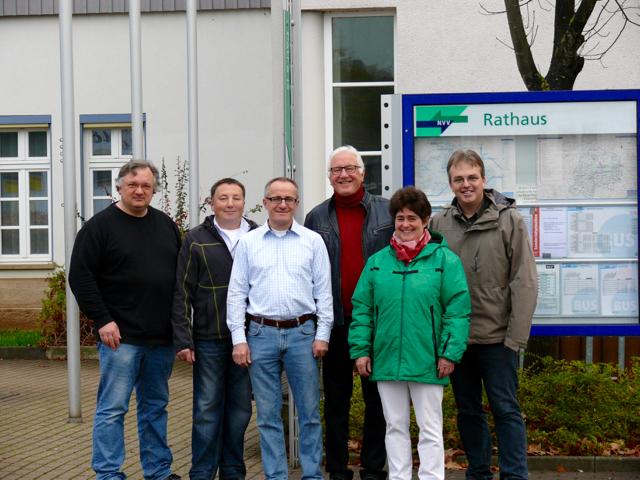 V.l.n.r.: C. Leipold, J. Lapp, Dr. H. Berk, W. Riegelmann, I. Thomson, M. Krug